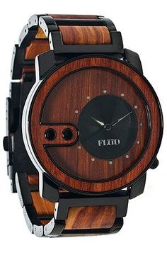 Flud Watches The Exchange Watch in Red Wood, Save 20% off with Rep Code: PAMM6 #karmaloop #fashion | Raddestlooks On The Internet http://www.raddestlooks.net