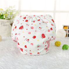 1Pcs Baby Cotton Reusable Baby Diapers Waterproof Cloth Nappies Washable Diapers Learning Pants Training Pants