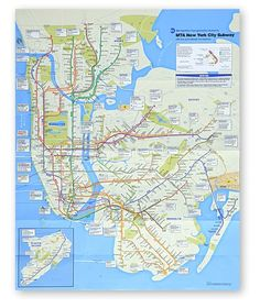 new york city subway map i