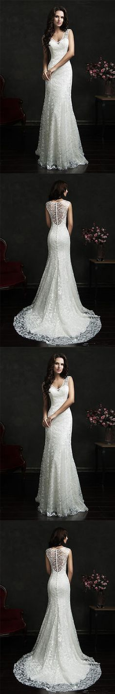 Wedding Dresses: White/Ivory Lace Wedding Dress Bridal Gown Custom Size 4 6 8 10 12 14 16+++ BUY IT NOW ONLY: $115.0