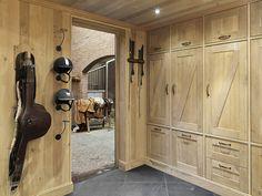 Tackroom built of european oak - SeBo Interior & Equipage