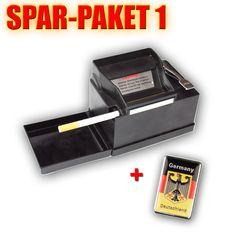 Die Powermatic 2 plus die elektrische Stopfmaschine, Sie funktioniert nach dem Stopfprinzip und ist das Original nicht zu vergleichen mit den Billig Kopien anderer Hersteller. Im Spar Paket 1 mit Sturmfeuerzeug.
