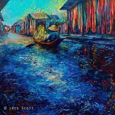 iris scott finger painting | Iris Scott's finger painting, My Thai Floating Market #IrisScott #Art ...