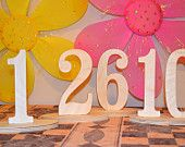 DIY Do-It-Yourself Wood Wooden Wedding Reception Birthday Party Table Numbers