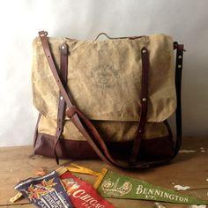 handmade vintage boy scout messenger bag / by elke