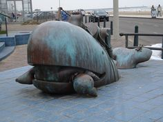 A new study hypothesized that sperm whales may be capable of ramming, making 'Moby-Dick' less fictitious. However, is their unique head truly designed for ramming? Outdoor Sculpture, Outdoor Art, Tom Otterness, Small Computer, Whale Art, World Of Books, Animal Kingdom, Wonders Of The World, Netherlands