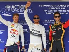 The Starting 3 @ the 2013 Formula 1 Hungarian Grand Prix