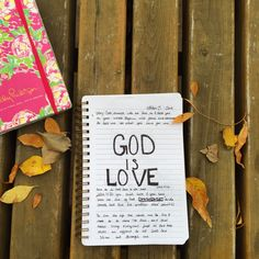 God is Love - bible journaling