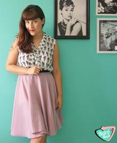 .Estilo Retrô Rock.  Moda retro da loja: http://www.marybettie.com/  #retrô #verão #pinup #saia #godê #vintage