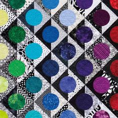 Bright Colored Quilt Bedding Bright Colored Quilt Patterns Black And White Nancy Mahoney Circle Quilts Bright Colored Baby QuiltsCenter: (h,k) Radius: r A circle has an infinite number of symmetries. Use Kaffe for circles. Circle Quilt Patterns, Patchwork Patterns, Quilting Patterns, Patch Quilt, Quilt Blocks, Textiles, Drunkards Path Quilt, Bright Quilts, Black And White Quilts