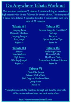 Do Anywhere Tabata Workout