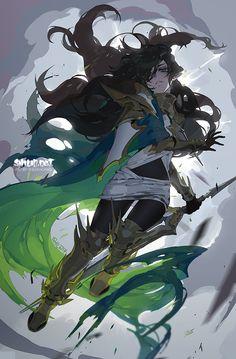 Artist by shilin on DeviantArt Character Concept, Character Art, Concept Art, Fantasy Kunst, Fantasy Art, Character Illustration, Illustration Art, Poses Anime, Animé Fan Art