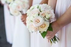 Posy, Nina Banks Events, white blush wedding, glam wedding, Westin Columbus, Ohio, greenery, garden rose, peony, gold