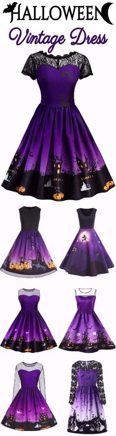 Happy Halloween Vintage Dress | Start at $10 | Sammydress.com
