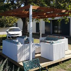 Wood Creations, Outdoor Furniture, Outdoor Decor, Outdoor Storage, Pergola, Outdoor Structures, Creative, Home Decor, Decoration Home