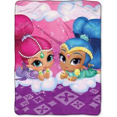 Nickelodeon Shimmer and Shine Cloud Crusin 46 inch x 60 inch Micro Raschel Throw, 1 Each, Multicolor Shimmer N Shine, Sleepover Party, Take A Nap, Kids House, 4th Birthday, Shinee, Cuddling, Cool Pictures, Napkins