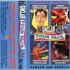 Your Sinclair Four Pack No 3 Dec 1990 Covertape for ZX Spectrum
