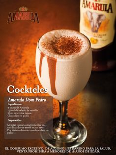 Amarula Dom Pedro South African Recipes, Ice Cream Recipes, Bartender, Food Hacks, Whisky, Glass Of Milk, Liquor, Smoothies, Deserts