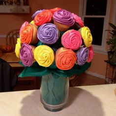 Homemade cupcake bouquet!