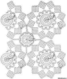 Winter Garden crochet tablecloth