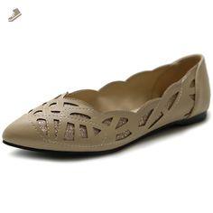 79de4b8acd90 Ollio Women s Shoe Pointed Toe Patterned Cutout Glitter Ballet Flat M1826  (6 B(M