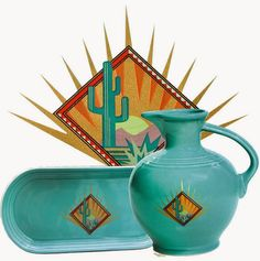 DISHing with HLCCA: HLCCA - Conference Exclusives ~ Conference 2004(Phoenix) • centerpiece: Fiesta® carafe - Phoenix theme (edition of 40) • attendee exclusive: Fiesta® bread tray - Phoenix theme