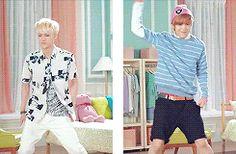 LTE Sehun work it Sehun work it:) and Luhan dance baby dance:)