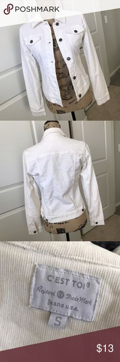 Women's white corduroy jacket Women's white corduroy jacket. Gently used but in good condition. Jackets & Coats
