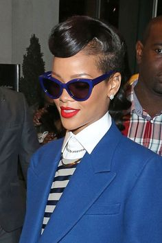 Blue Cat-Eye Shades