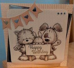 Card made from Smudge and Mitten A4 pad.