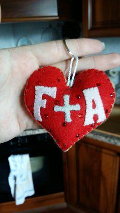 Felt heart made from me