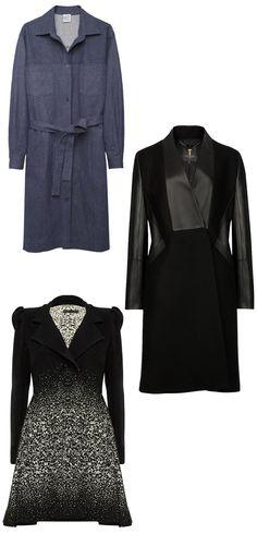 Coat dresses: (from top) Base Range, $275; lagarconne.com. Ted Baker London, $625; tedbaker.com. Alice + Olivia, $1,197; aliceandolivia.com #InStyle