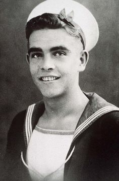 Young Sean Connery before he was famous sailor yearbook picture