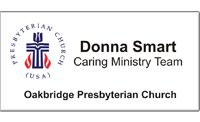 Medium Presbyterian Church Multi-Color Name Tag   NameTagWizard.com