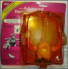 Neo-Otyugh action figure from the Advanced Dungeons & Dragons toy series manufactured by LJN in Dungeons And Dragons Figures, Advanced Dungeons And Dragons, Childhood Toys, Childhood Memories, 1980s Toys, Sword And Sorcery, Dinosaur Toys, Transformers Art, Classic Toys
