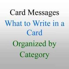 This is a great resource for when you need to write on a greeting card.