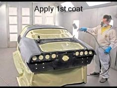 SprayPaintVideos® - How To Spray Paint Your Car - Auto Painting & Bodywork Repair Garage Tools, Car Garage, Garage Ideas, Car Spray Paint, Auto Paint, Auto Body Repair, Car Repair, Paint Booth, Car Restoration
