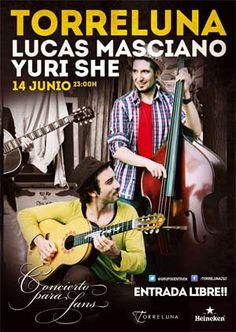 Lucas Masciano + Yuri She en Torreluna (Grupo Centrick) Zaragoza. Concierto para fans.