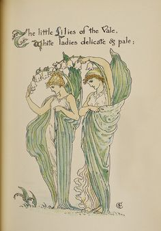 Illustration from Flora's Feast by Walter Crane