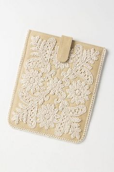 Embroidered Fields iPad Cover #anthropologie
