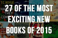 Looks like it's going to be another great year for books! *Ranked in no particular order*