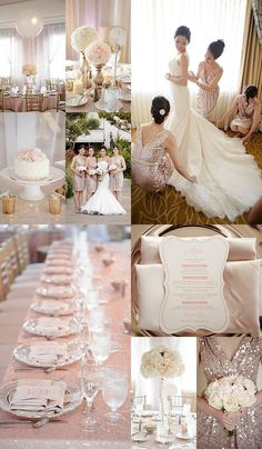 beautiful and romantic blush wedding ideas