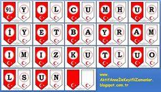 AKTİF ANNE ile keyifli zamanlar...: 29 Ekim Cumhuriyet Bayamı Etkinlik 6 ... Classroom Management, Diy And Crafts, Preschool, Banner, Education, Holiday Decor, History, Ideas, Banner Stands