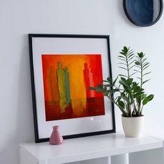 Conversation, Wall Art Print of Original Oil Painting, Original contemporary art, wall decor Printable Wall Art, Wall Art Prints, Conversation, Contemporary Art, Wall Decor, Oil, The Originals, Unique Jewelry, Frame