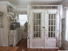 Junk Chic Cottage: When is a Door(s) a Wall?
