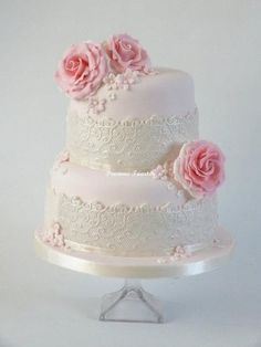 """Romantic Wedding Cake-Cream colored """"lace"""", a pale yellow frosting with brighter colored yellow roses?"""