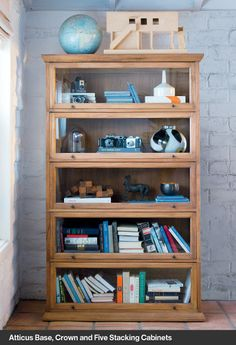 Atticus Base, Crown and Five Stacking Cabinets