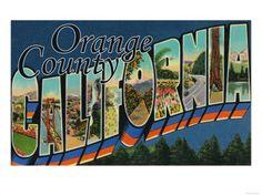 Orange County, California - Large Letter Scenes