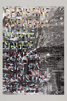 Franziska Burkhardt & Anna Albisetti's #poster for Helmhaus Zürich [2006] #silkscreen