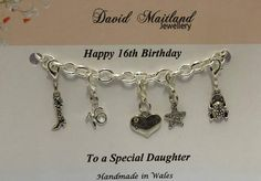 Daughter 16th Birthday Lucky Charm Bracelet by DMaitlandJewellery